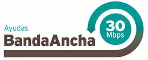 logobandaancha 0 - Subvenciones para la contratación de servicios de acceso de banda ancha fija de alta velocidad a 30 Megabytes/s